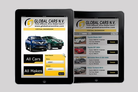 Global Cars Virtual Showroom created by Celestial Sites (2012)
