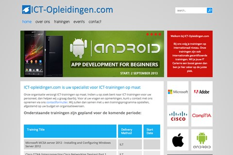 ICT Opleidingen created by Celestial Sites (2013)